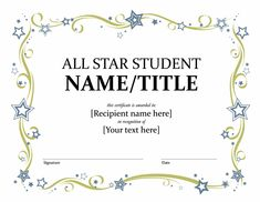 all star student certificate templates officecom