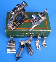 about Singer Featherweight 221 sewing machine original embroidery darning foot Vintage Singer Featherweight 221 Sewing Machine Attachment Set Featherweight Sewing Machine, Treadle Sewing Machines, Antique Sewing Machines, Sewing Tools, Sewing Hacks, Sewing Tutorials, Sewing Patterns, Sewing Machine Repair, Sewing Machine Accessories