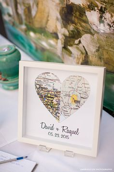 During a trip to Rome, the bride and groom made a wish at the Trevi Fountain that they would one day marry. They shared this serendiptious story on their guest sign-in table.