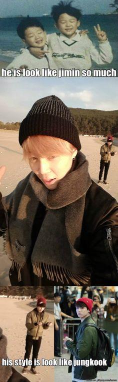 Jimin's little brother Park Jihyun
