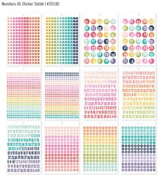 Carpe Diem Numbers Sticker Tablet A5