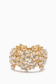 Pearl Pave and Rhinestone Large Stretch BraceletPearl Pave and Rhinestone Large Stretch Bracelet #AGACIGIRL #AGACICRUSH
