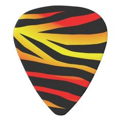 Tiger Stripes Animal Print Guitar Pick - stripes gifts cyo unique style