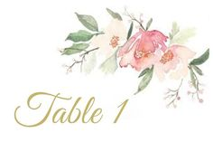 Add these table numbers to your wedding centerpiece decor! Printed onto 4 x 6 white card stock with watercolor flowers and your choice of gold, green, or pink font.  Be sure to select the quantity and font color at checkout. Need a different quantity or size? Send me a message prior to placing your order, and I will customize the listing at no additional charge.  Matching Items:  Wedding Programs: https://www.etsy.com/listing/501989345/gold-wedding-programs-tri-fold-w...