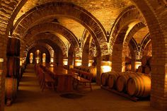 Vincze Winery Wine Cellar in Eger, Hungary. Caves, Bar A Vin, Wine Cellar Basement, Wine Cellar Design, Wine House, Wine Deals, Wine Storage, Budapest Hungary, Eastern Europe