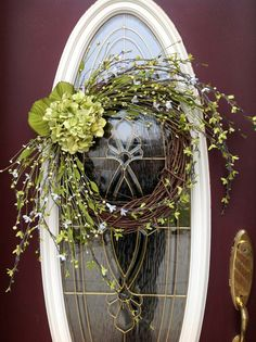 Spring Wreath Summer Wreath Grapevine Door by AnExtraordinaryGift, $75.00