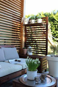 Ikea Patio Furniture, Balcony Furniture, Outdoor Furniture Sets, Furniture Ideas, Metal Furniture, Ikea Outdoor, Outdoor Decor, Outdoor Sofa, Patio Decorating Ideas On A Budget