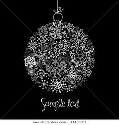 christmas embroidery black and white - Bing Images
