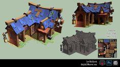 ArtStation - wood house, Minhyuck Lee