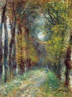The Athenaeum - The Covered Lane (Pierre Auguste Renoir - )