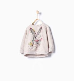 Embroidered rabbit sweatshirt
