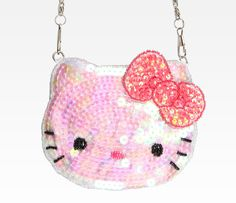 Hello Kitty Spangle Coin Purse: Sguiggle in Characters Hello Kitty at Sanrio
