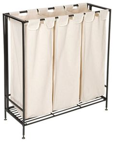 The Container Store 3-Section Iron Folding Hamper - contemporary - hampers - The Container Store