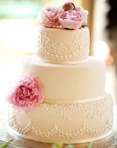 Classic Wedding Cake with Scroll Details