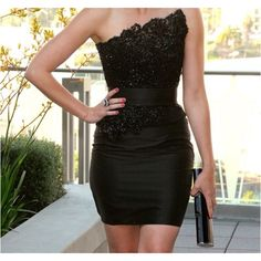 very chic cocktail dress. Would need to lose a few ;)