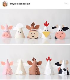 All designs in the Karen Boudreau.inc store are off today! Head over and gra… All designs in the Karen Boudreau.inc store are off today! Head over and grab these animal party hats from our farm party and more. Farm Animal Party, Farm Animal Crafts, Farm Animal Birthday, Animal Crafts For Kids, Farm Birthday, Farm Party, Art For Kids, Barnyard Party, Elmo Party