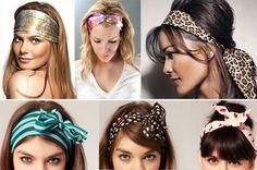 lenço no cabelo - Pesquisa Google                                                                                                                                                                                 Mais Bandana Hairstyles, Easy Hairstyles, Cabelo Pin Up, Hair Chains, Head Scarf Styles, Mein Style, Turban Headbands, How To Make Hair, Gorgeous Hair