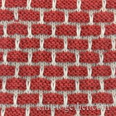 -Color Bricks Pattern, knitting pattern chart, color knitting stitch