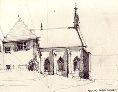Kloster Bebenhausen,    pencil drawing