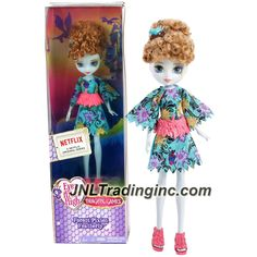 Mattel Year 2015 Ever After High Dragon Games Series 8 Inch Doll - Forest Pixies FEATHERFLY (DHF99)