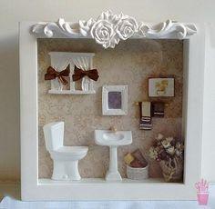 Quadro cenário para lavabo