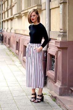 Striped Culottes | Ella Olivia
