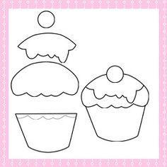 Patchwork moldes cupcake para patch aplique