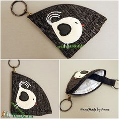 Duci madárkás szövet, hímzett kulcstartó Sunglasses Case, Diy, Bricolage, Do It Yourself, Homemade, Diys, Crafting