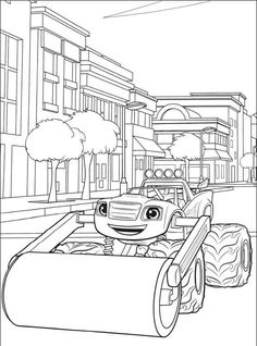 Printable Blaze and the Monster Machines Coloring Pages. Find out Blaze and the Monster Machines coloring pages collection here. Let's take your kids to learn w Nick Jr Coloring Pages, Kids Printable Coloring Pages, Bunny Coloring Pages, Abstract Coloring Pages, Toddler Coloring Book, Preschool Coloring Pages, Free Coloring Sheets, Coloring Pages For Girls, Cartoon Coloring Pages