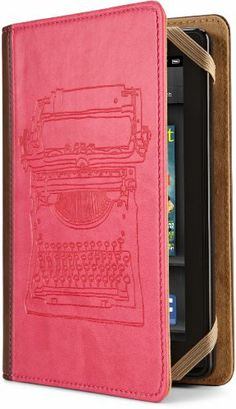Nostalgic cover for youre-reader or tabletProduct InformationThe Verso Typewriter Case Cover is a unique case that provides stylishprotection for your favorite e-reader or tablet.  Designed byMolly Rausch the pink and tan case features the image of a typewriteron the front cover.  Perfect for Kindle Nook Kobo and othere-readers and tablets it features a soft suede-like interior and aninside pocket for ID receipts and more.  The tough but thinpadding of the Verso Typewriter Case Cover gives…