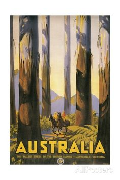 Vintage Travel Poster for Australia Giclee Print at AllPosters.com