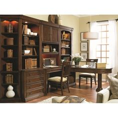 Cherry Creek Partner S Peninsula Desk With Two Drop Front Drawers Pedestal Base By Furniture