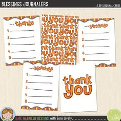 *NEW* Blessings Journalers - FREE pocket scrapbooking journal cards created by Sara Lively - perfect for Thanksgiving!
