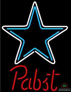 Pabst Blue Ribbon Dallas Cowboys Neon Sign NFL Teams Neon Light