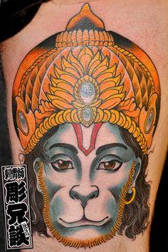 hanuman tattoo - Google Search Hanuman Tattoo, Dali Tattoo, Fresh Tattoo, Lijiang, Kunming, Professional Tattoo, Tattoo Studio, Tatoos, Tattoos For Women