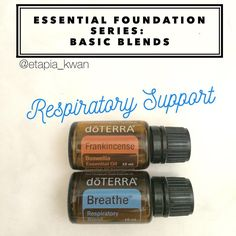 My essential foundation series is a great way to learn how to use DoTERRA's top 10 oils as part of your daily routine. For respiratory support, Breathe and Frankincense is a great blend to start with. I love diffusing this or layering it in the bottoms of the feet, on the chest, and up and down the spine. Just add a drop of each to your palm and massage in, followed by few drops of fractionated coconut oil (FCO). You could also make a 10 mL roller with about 20 drops of each topped with…
