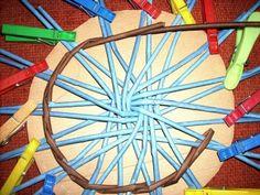 Tutorial - design for a lid - Moje pletení z papíru - Fotoalbum - NÁVOD - NA PLETENÁ DNA - NÁVOD NA HVĚZDICOVÉ DNO,NEBO VÍKO