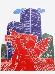 Red Eros in the city with a red scarf Echo Art, Art Actuel, Art Sculpture, Red Scarves, Expositions, Zentangle, Presents, Wall Decor, Abstract
