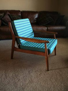 Two Available  Mid Century Modern Lounge Chair by TurtleHillShop, $325.00.    They are in Green Bay. I can just go get them...