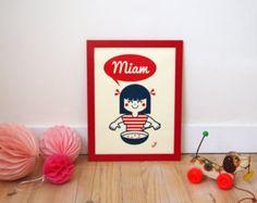 Affiche pour chambre d'enfant par l'Atelier VuDo. #affiche #kids #atelierVuDo