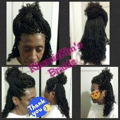 Senegalese twist with curls