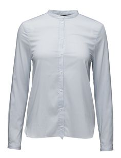 DAY - Day Deema-Lovely minimalistic cotton shirt made in a classic tailored style. The shirt features long sleeves, a china collar and a front button fastening. The DAY Deema is a great choice for your office-wear and can be styled with anything you'd like.  Front button placket Mandarin collar Stretch fabric Classic Simple Mandarin Collar, Office Wear, Front Button, Stretch Fabric, Light Blue, How To Make, How To Wear, China, Shirt Dress