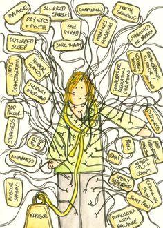Assim, muitos sintomas da fibromialgia.