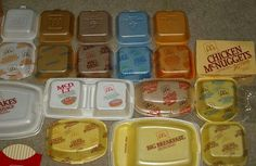 Back in the 80's when fast food joints like McDonalds used  styrofoam containers.  G;)