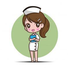 Cute cartoon character nurse. | Premium Vector #Freepik #vector Cartoon Cartoon, Nurse Cartoon, Cute Cartoon Characters, Anime Best Friends, Letras Comic, Doodles Kawaii, Nurse Drawing, Nurse Art, Photography Backdrop Stand