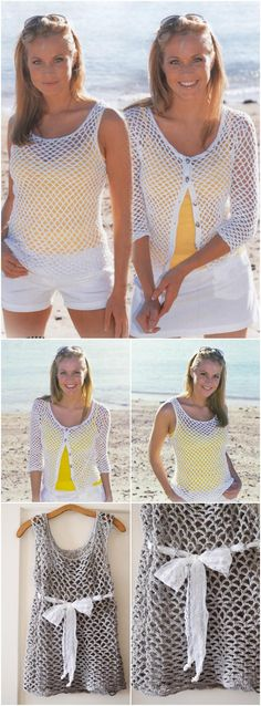 airy crochet summer top or cardigan