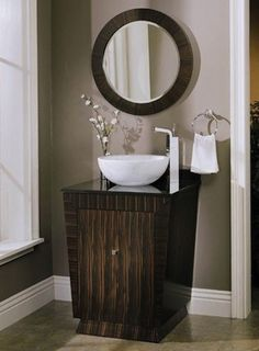bathroom vessel sink vanity ideas | Small Can Be Beautiful—Even in the Bath