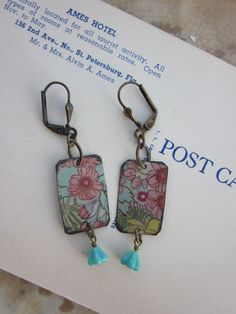 Tin Earrings Faded Pink Tin for the Ten Year by TheMadCutter, $28.00