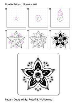de zendoodle html zd_doodle_pattern.de zendoodle html zd_doodle_pattern. Tangle Doodle, Tangle Art, Zen Doodle, Doodle Art, Zentangle Drawings, Mandala Drawing, Doodles Zentangles, Drawing Flowers, Easy Zentangle