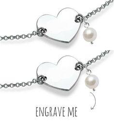 "Silver Bracelet set ""Memory & Pearl '"